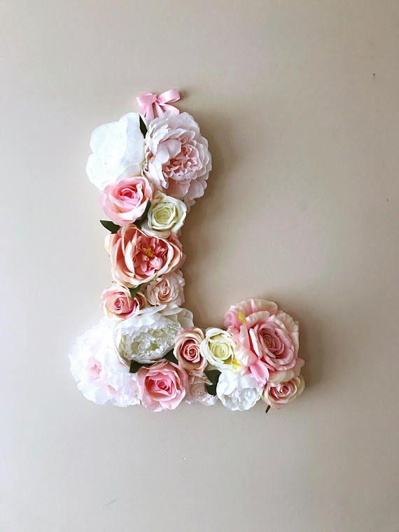 Boho chic weddings, Flower Letters, 18'' Floral Letter, Vintage wedding decor, Wedding letters, Boho decor, Vintage decor, Chic wall decor