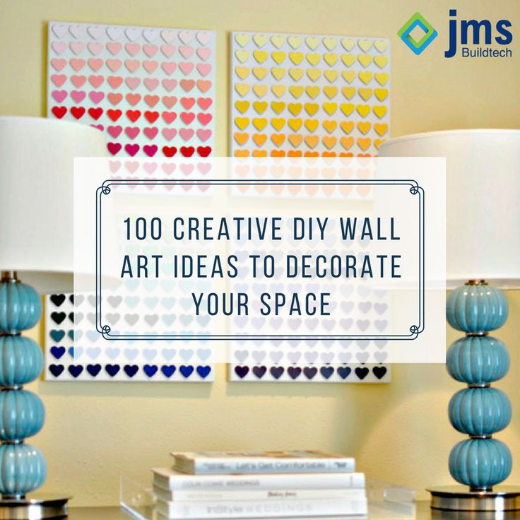 100 Creative DIY Wall Art Ideas to Decorate Your Space. #DIY     To know more visit : http://go.brit.co/19nWeIw