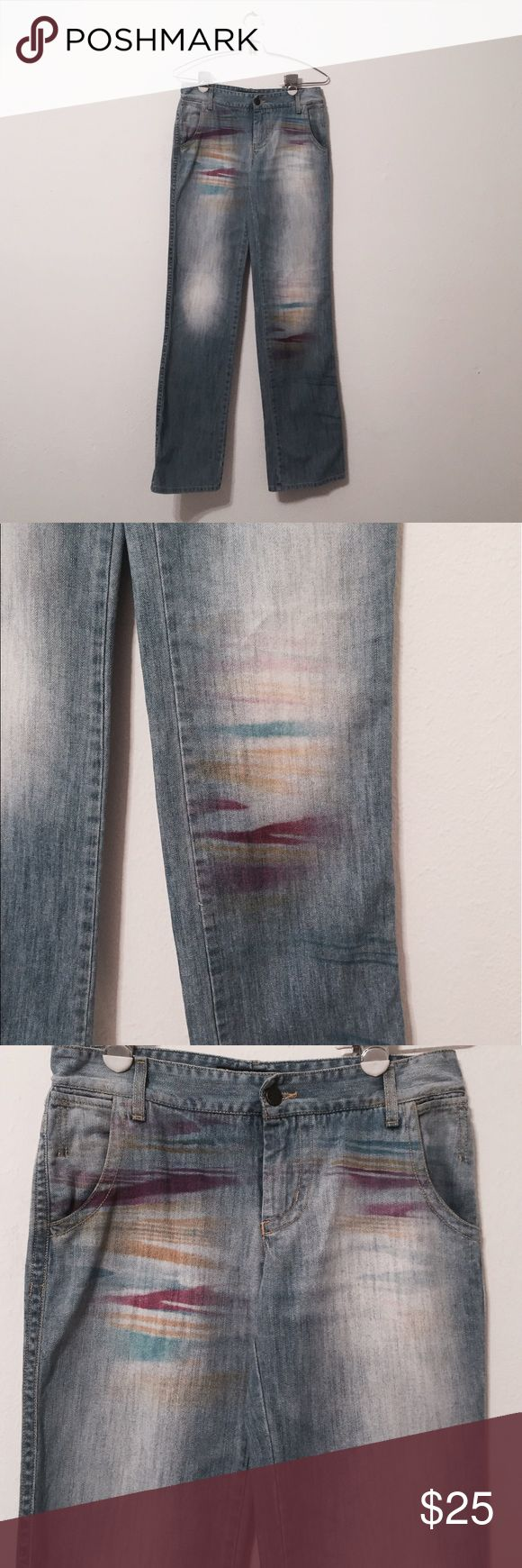 SPORT MISSONI Colorful Streak Pants A fun jean with a colorful theme that adds a hint of vibrancy! Inseam is 34 inches and out seam is 42 inches! Missoni Pants