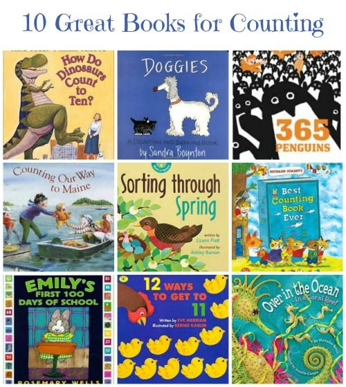 Sneak in a little math during story time with these fun counting books! #stem