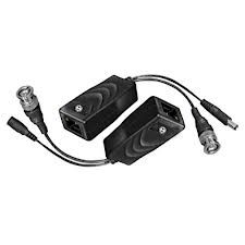 Conectores para ensamblar cable de vídeo BNC y de energía en cable de red (4 hilos)