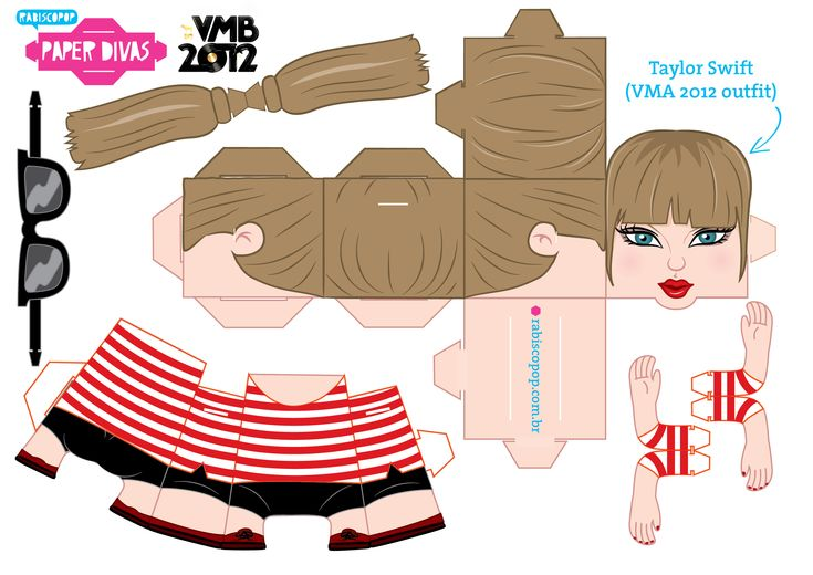 taylor swift paper doll