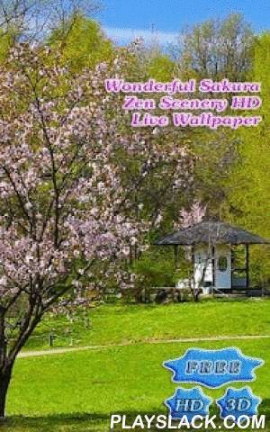 3D Sakura Zen Scenery Free  Android App - playslack.com ,  Echt Full HD, echt 3D.Geen een statische foto's - echt 3D Animatie in Full HD verschijning.Een Zonlicht plek is gewoon gevuld met zonlicht en het is warm.De kalk en heldere kleur van het gras rondom brengt zo'n vredig gevoel in je.Het kalmeert en troost je geest.Prachtige lentedag!Zachte wind streelt de witte delicate bloei van Sakura.Je voelt de lente in je, in je bloed, in je essentie.De geur van de verbazingwekkende bloem reikt…
