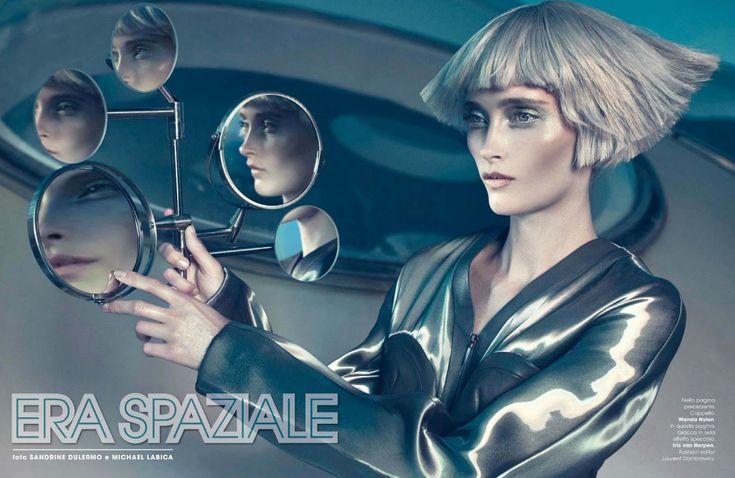 era spaziale: iekeliene stange by sandrine dulermo & michael labica for glamour italia october 2014