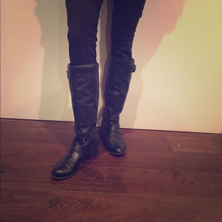 Music video tall black boots, party blond xxx