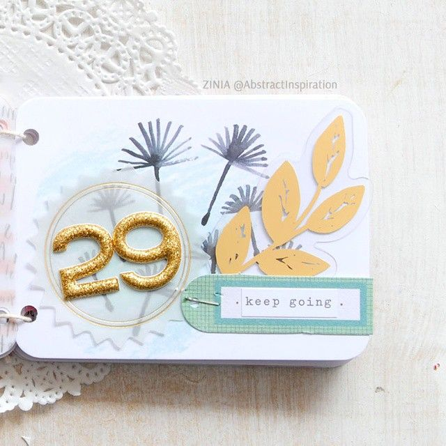 A while ago I shared a sneak of a birthday minibook I made for my boyfriend. Since I made sure he want be sneaky and check my blog before he gets it, I went ahead and posted a full flip-through so make sure to check that out (link in bio). #minialbum #minibook #birthdaybook #birthday #craft