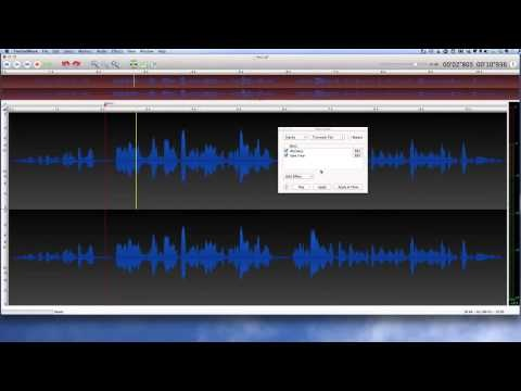 Twisted Wave for Mac Audio Editor - An interesting application for editing audio on your Mac. It doesn't have quite the power that you will find an application like Amadeus Pro but it does let you add some text that you can have converted into audio, making use of the Mac OS X text to speech voices.