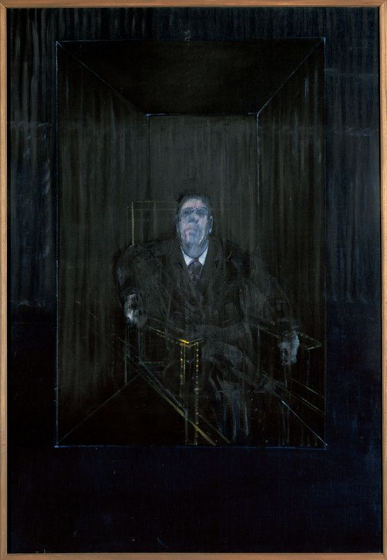 Study of a Portrait, Francis Bacon  http://nazmiyalantiquerugs.com/blog/2011/07/francis-bacon-painting-portrait/