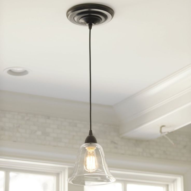 Hanging Can Lights: Glass Pendant Shade Adapter