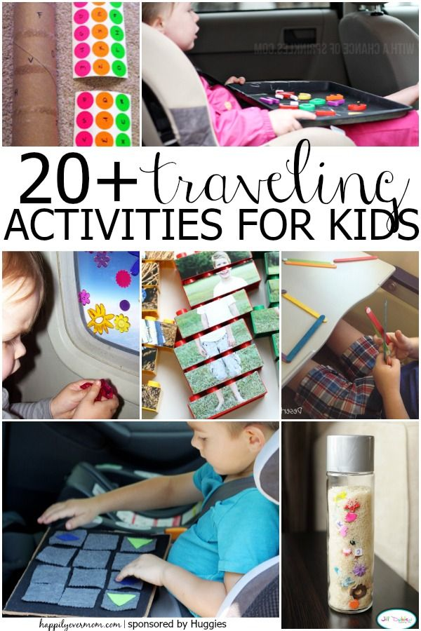 Fun activities for the plane or road trip when you travel with kids.