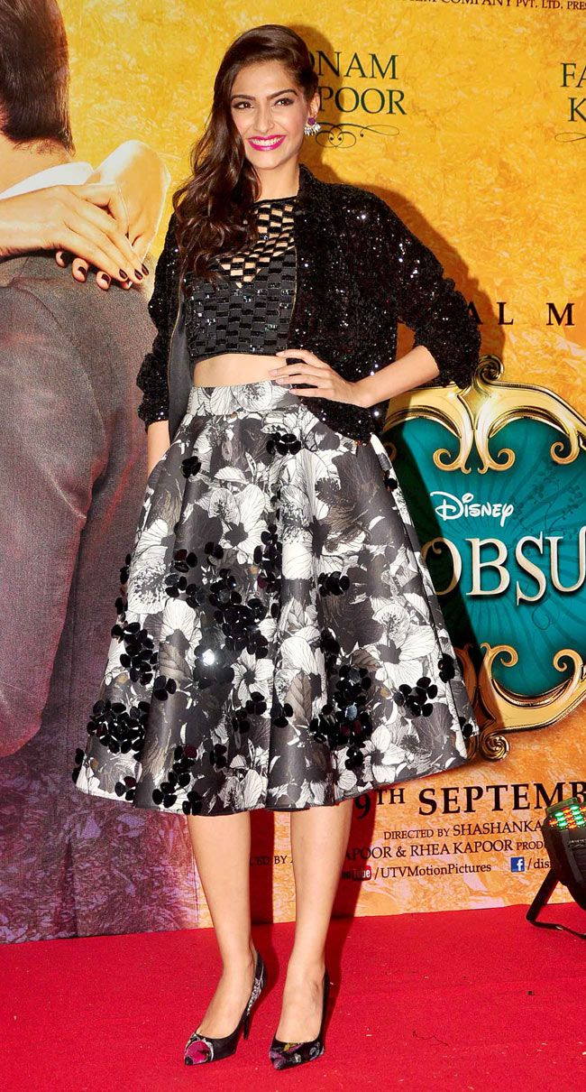 Fashionista Sonam Kapoor was at her sartorial best at the music launch of 'Khoobsurat'