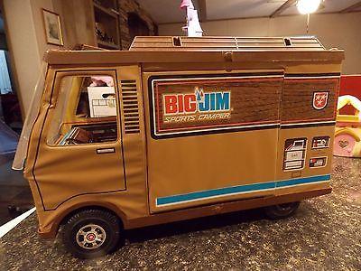 Vintage 1972 BIG JIM SPORTS CAMPER Mattel AS IS GI JOE BARBIE BROWN BUS RV TOY