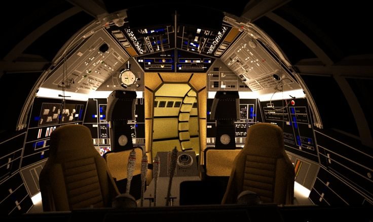 screen accurate millennium falcon cockpit cg model. Black Bedroom Furniture Sets. Home Design Ideas