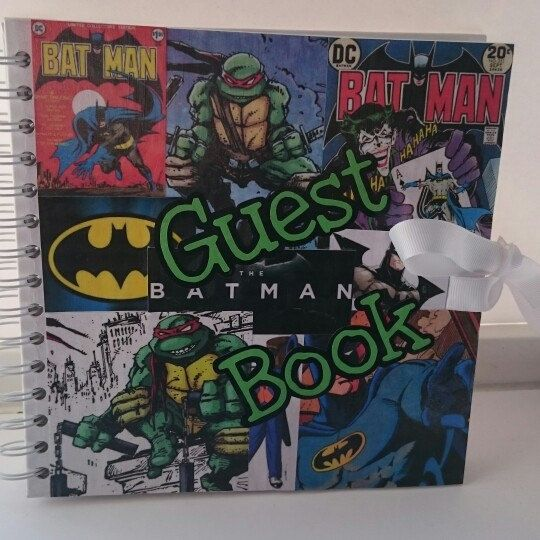 Geek Wedding Ideas: Superhero Guest Book
