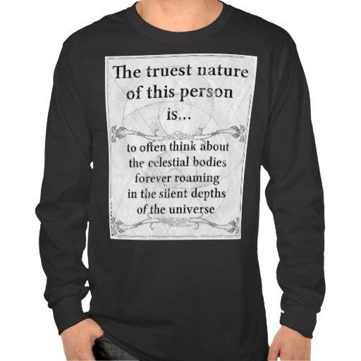 The truest nature: celestial bodies roam universe tee shirts