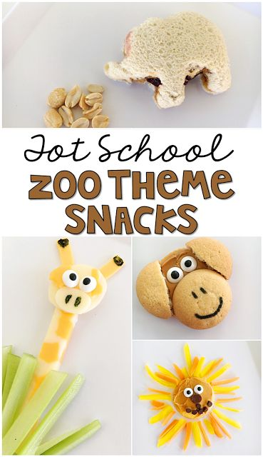 These animal snacks are SO cute! Perfect for a zoo theme in tot school, preschool, or the kindergarten classroom.
