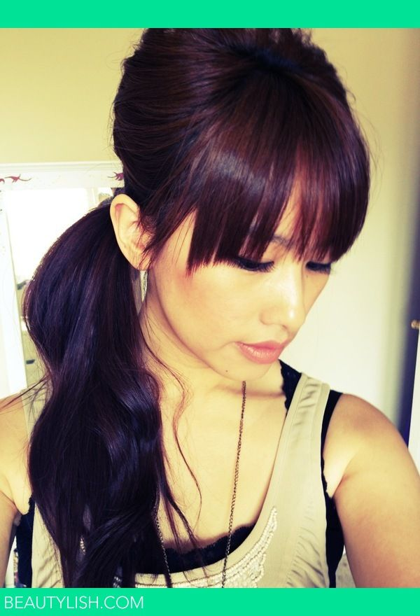 Bouffant side pony | Kamen H.'s (Kakabeautyblog) Photo | Beautylish