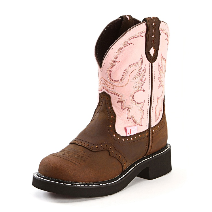 Justin Gypsy Pink Cowgirl Boots - In our Tent Sale!