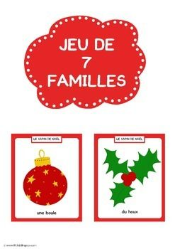 Christmas go fish card game in French