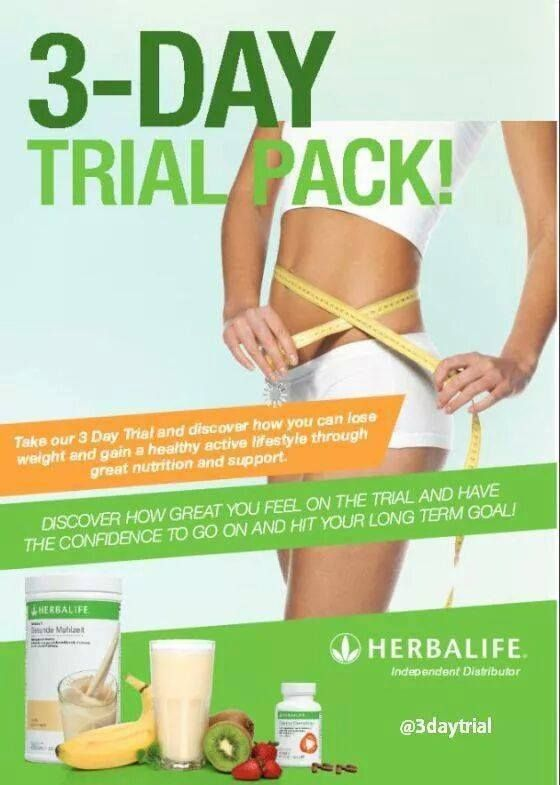20 best images about EXPERIENCE THE #HERBALIFE 3-DAY TRIAL PACK on ...