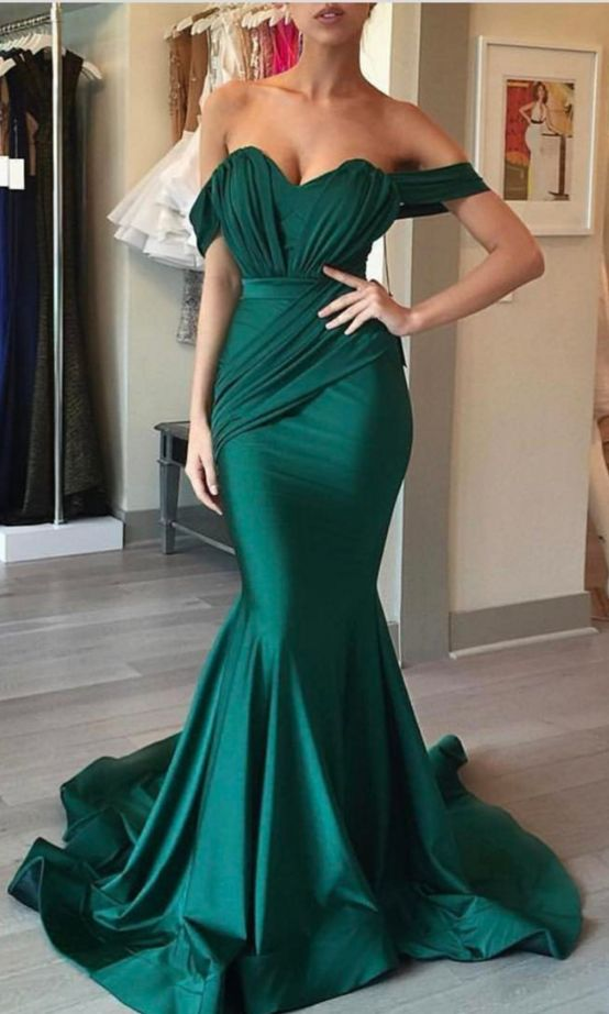mermaid prom dress,emerald green evening dress,sweetheart formal dress,sexy