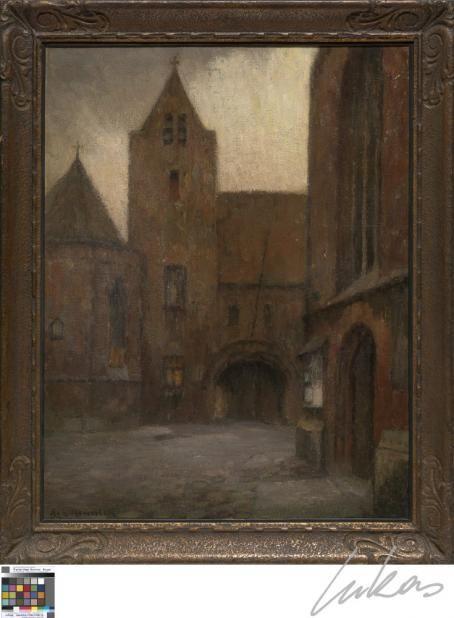 Het portaal van het Sint-Janshospitaal- Achilles Hennion