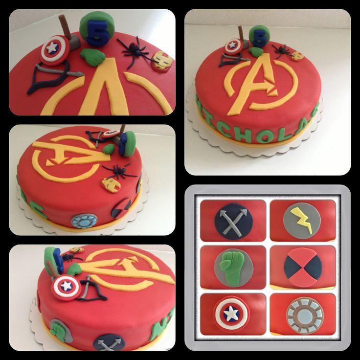 Avengers cake #torta avengers #torta vengadores