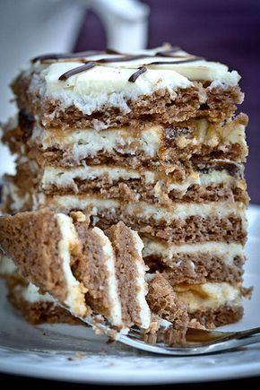 Надо было придумать какой нибудь торт на Новый Год. Так как я пеку очень часто, то хотелоссь чего то нового, но и не суперсложного. Я хотела торт с черносливом и орехами. Порылась по интернету, но ничего интересного не нашла, - то сильно сложно, то сильно долго, то не нравиться на вкус. В конце…