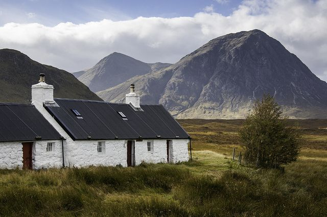 Glencoe, Scotland. The croft looks very similar to my childhood home there.