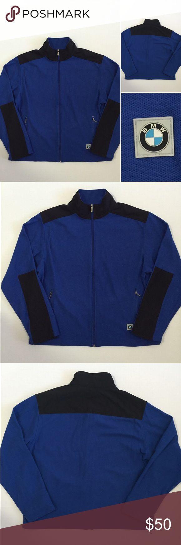bmw men s cobalt blue black zip up jacket szl