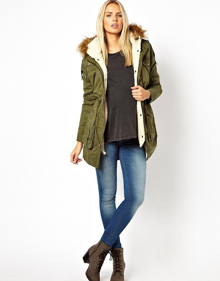 Your must-have maternity coat this winter? The ASOS Maternity Parka with Detachable Faux Fur Lining.
