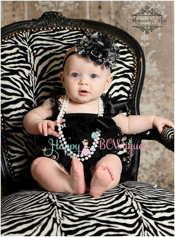 Gorgeous Black Lace Petti Romper petti rompers by HappyBOWtique