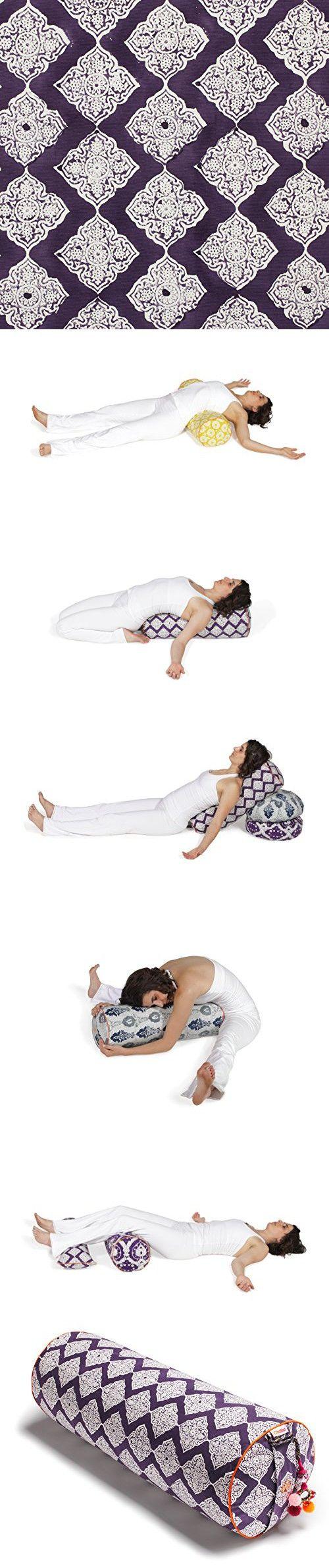 Chattra Plum Jali Round Yoga Bolster