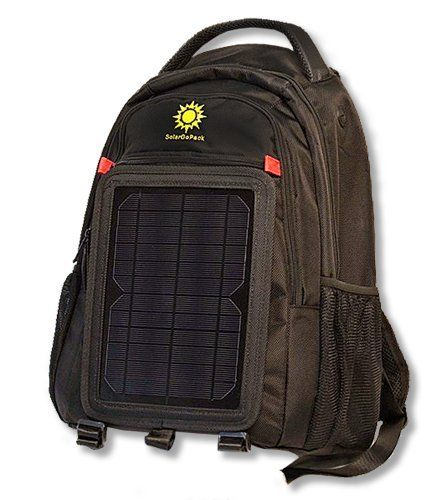 SolarGoPack 10k, solar powered backpack, charge mobile devices, Take Your Power with You, 12,000 mAh Lithium Ion Battery - Stay Charged My Friends !! ** New and awesome product awaits you, Read it now  : Day backpacks
