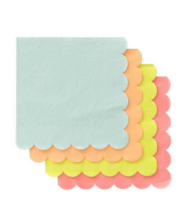 Neon Party Napkins (large)  sc 1 st  Pinterest & 136 best party | napkins images on Pinterest | Party napkins Table ...