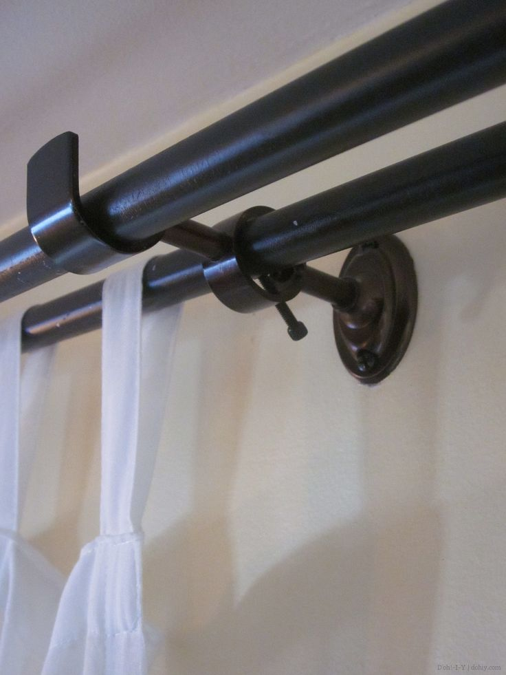 1000 Ideas About Double Curtain Rods On Pinterest Double Curtains Ikea Curtains And Double