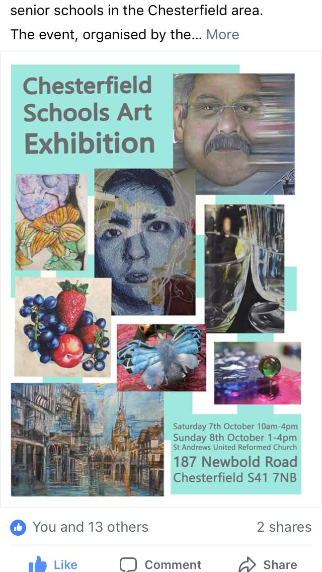Chesterfield Senior School Art Exhibition 2017