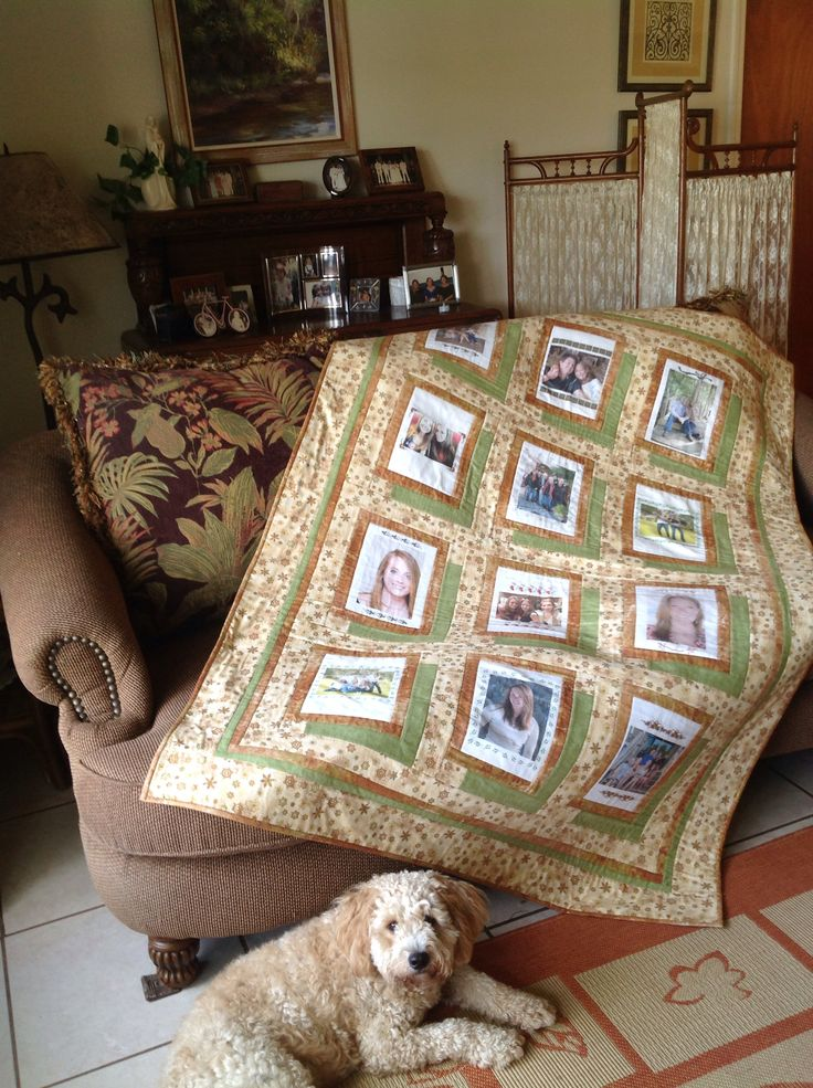 Christmas family photo quilt.  Finished before December, yay!