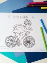 Coloriage Le vélo de course