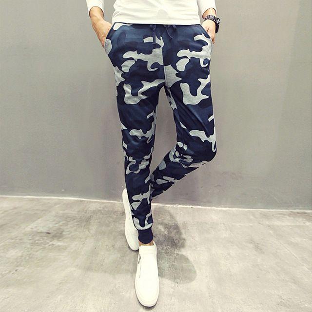 Новые камуфляж мужчины свободного покроя штаны Slim Fit армия камуфляж открытый спортивные брюки хип-хоп спортивные штаны военные мужские бегунов
