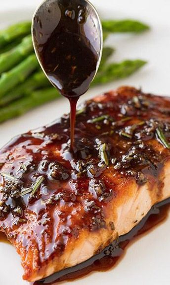 Easy Balsamic Glazed Salmon | Recipe Knead...I don't eat fish, but this glaze sounds delicious...Chicken maybe?