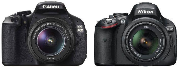 Canon EOS Rebel T3i / 600D vs Nikon D5100 review (helpful videos too)