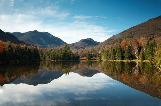 Adirondack Mountains part of the Adirondack Park. Hiking in the high peaks in the fall is truly spectacular.