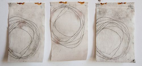 furious.(2014) drypoint etch and monoprint on found objects.
