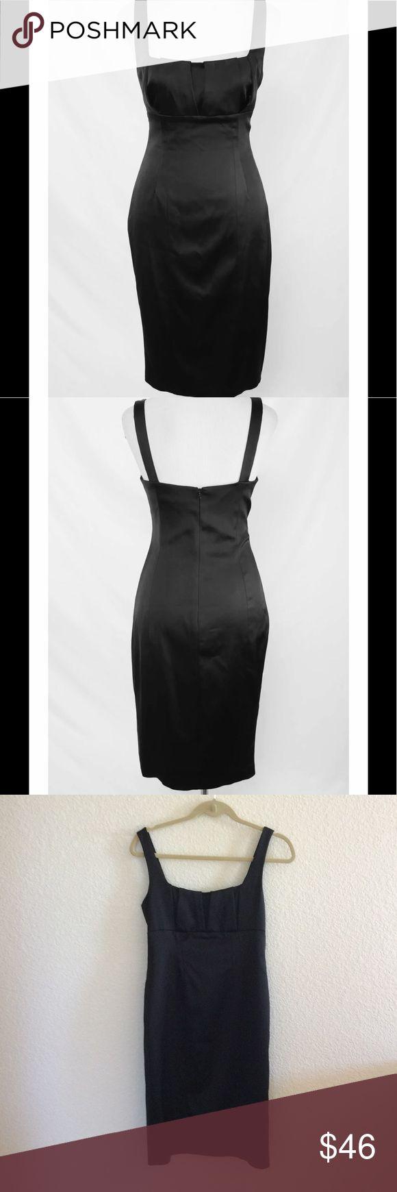 "David Meister Stretch satin lbd Beautiful like new stretch satin little black dress. Size 4.  38"" in length David Meister Dresses"