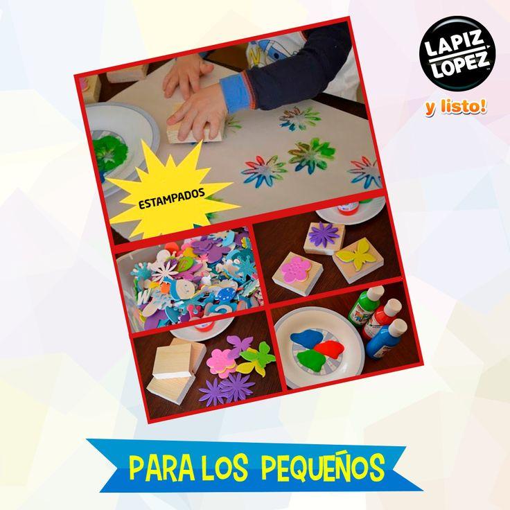 ¡Utiliza figuras de goma eva para hacer estos divertidos sellos con témpera!