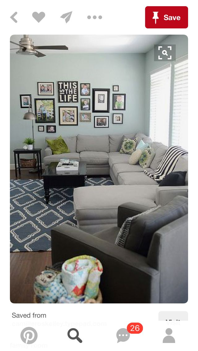 Sectional sofa | gallery wall