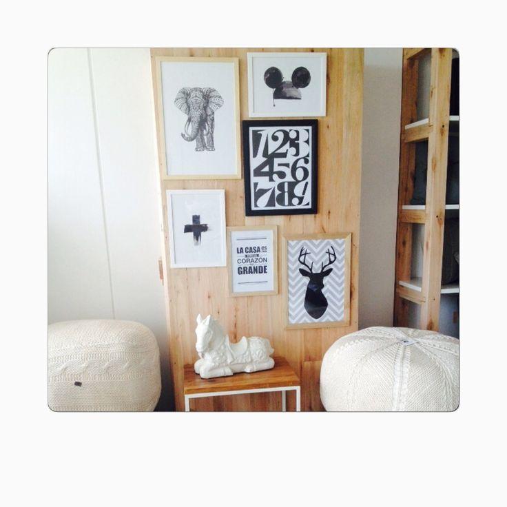 Pack de cuadros en blanco y negro estilo n rdicos de for Marcos para cuadros a medida