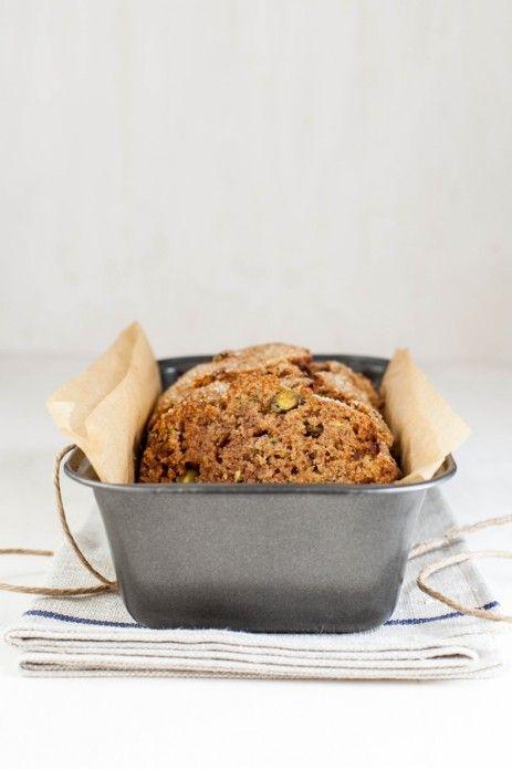zuchinni pistachio bread
