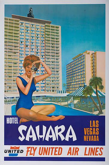 Sahara * Las Vegas, NV | United Air Lines (1960s)